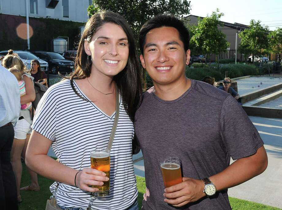 Guests attend a party at the St. Arnold Brewing Company to help the Houston Zoo ring in the opening of their new Texas Wetlands exhibit Wednesday May 15 2019.(Dave Rossman Photo) Photo: Dave Rossman, Contributor / 2019 Dave Rossman
