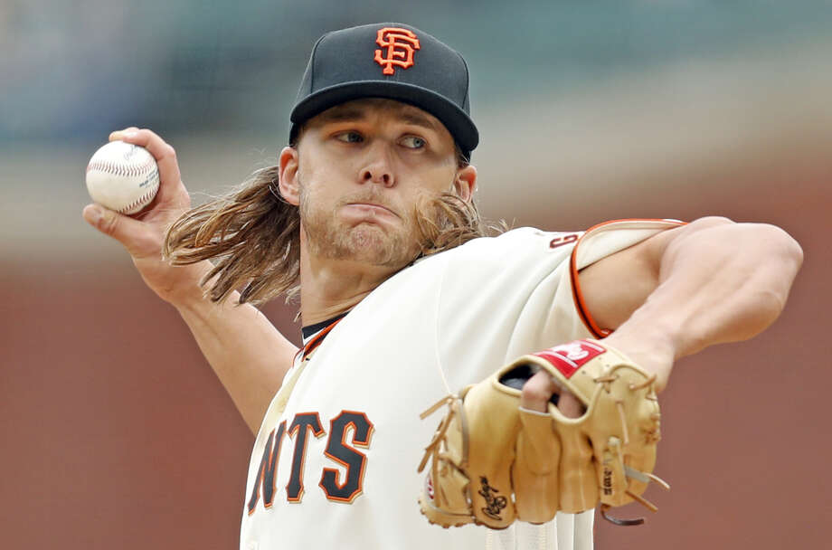 San Francisco Giants' starting pitcher Shaun Anderson pitches against Toronto Blue Jays during MLB game at Oracle Park in San Francisco, Calif., on Wednesday, May 15, 2019. Photo: Scott Strazzante /  The Chronicle