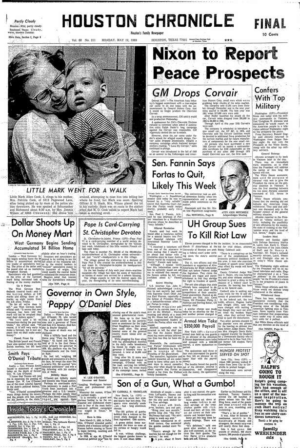 May 12, 1969 Photo: Houston Chronicle
