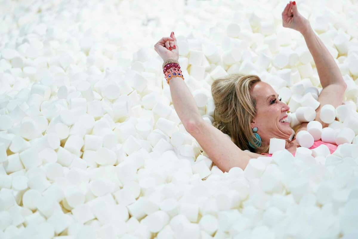 Candytopia, a confectionery installation that consists of more than a dozen rooms with interactive art installations, will coming back to Houston. Shown: Marshmallow pit from the Dallas Candytopia.