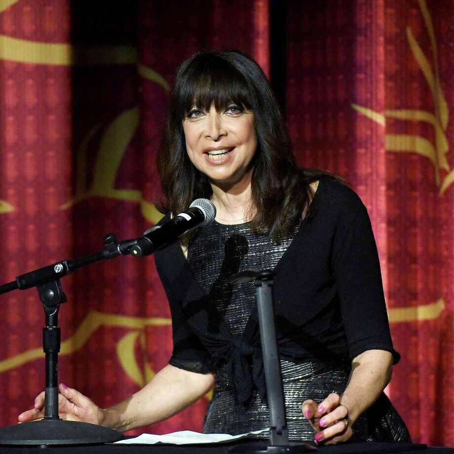 """Actress Illeana Douglas speaks onstage at the screening of """"Working Girl"""" at the 2019 TCM 10th Annual Classic Film Festival April 13, 2019. Douglas is the emcee for Middletown's upcoming Pride Day, which includes a festival and parade downtown June 15. Photo: Presley Ann / Getty Images For TCM / 2019 Getty Images"""