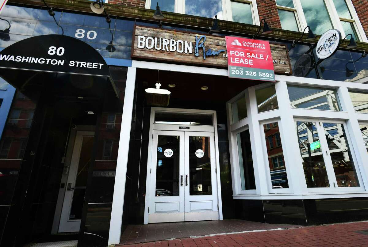 Two restaurants, Bourbon Raw bar and Cantiki, Thursday, May 16, 2019, have closed in South Norwalk, Conn. The two affiliated businesses opened less than a year ago.