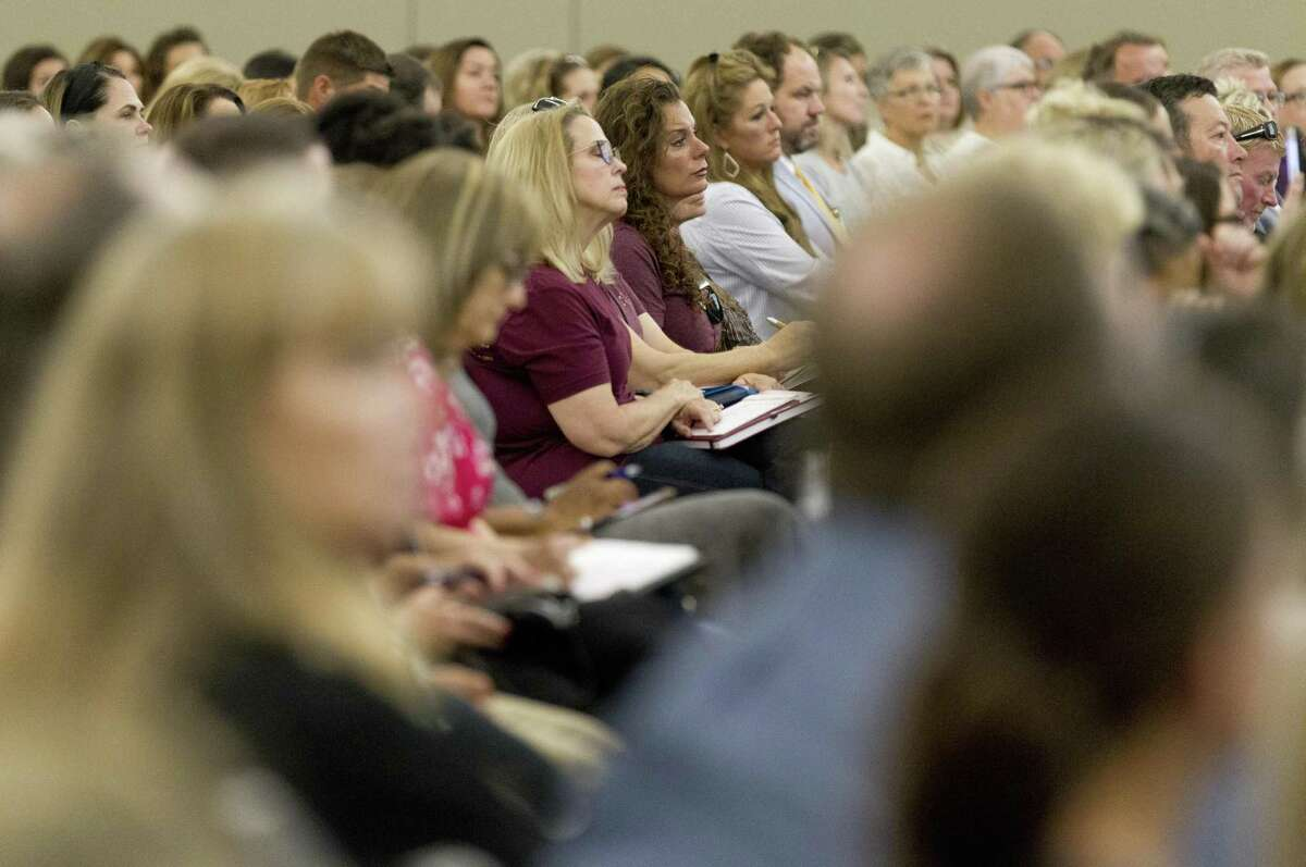 More than 400 people for 100 agencies attended a meeting of the Behavioral Health and Suicide Prevention Task Force of Montgomery County at the Lone Star Convention & Expo Center, Thursday, May 16, 2019, in Conroe. Members collaborated and discussed suicide prevention, awareness and other mental health issues.