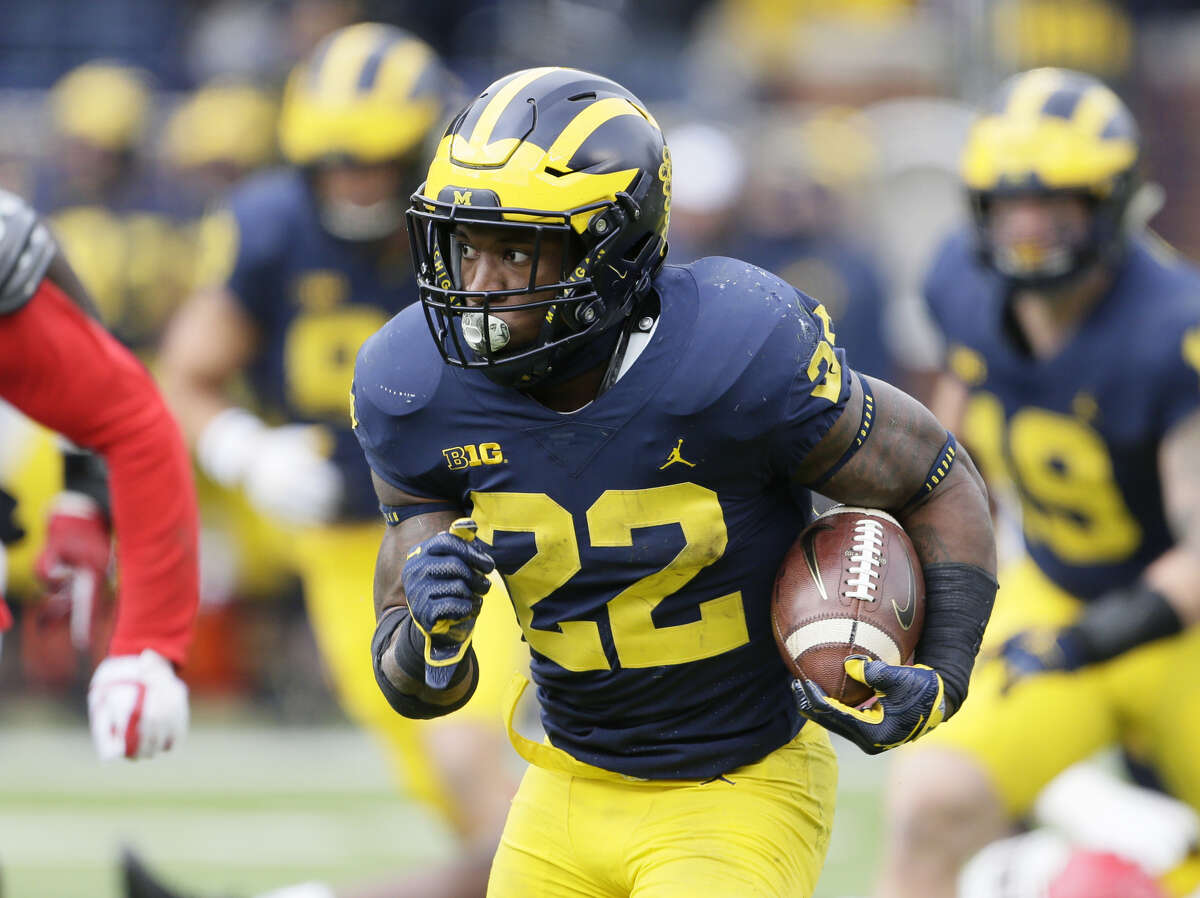 Undrafted free agent Karan Higdon figures to get a chance to see if he can be a fit for the Texans as their third running back.