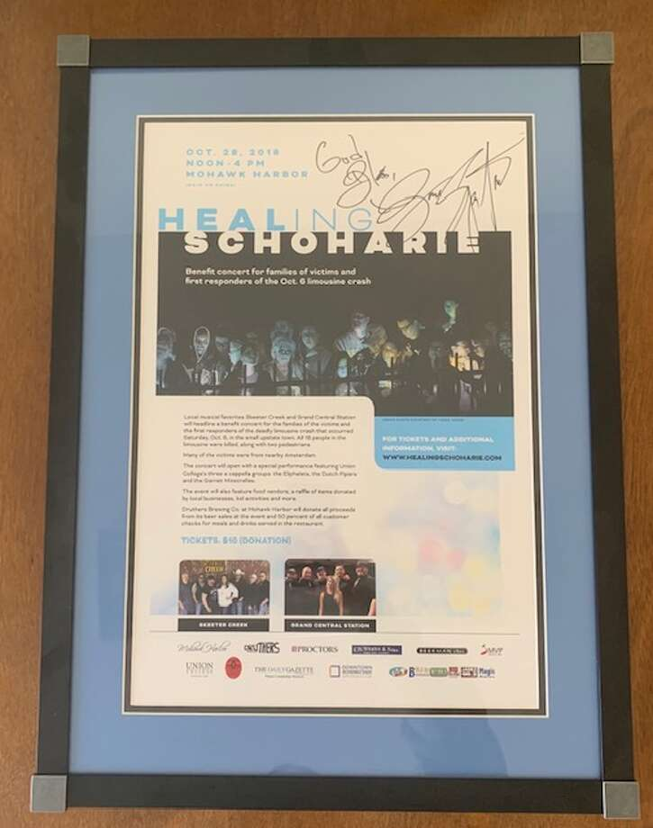 Backstreets, a magazine dedicated to Bruce Springsteen, is auctioning off this poster signed by the singer to help raise funds for the families of the victims in the Oct. 6 limousine crash in Schoharie and the emergency workers who went to the scene. Photo: Photo Provided By Phil Wajda