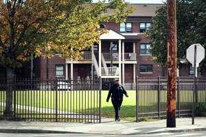 FILE PHOTO: The P.T. Barnum apartments in Bridgeport, Conn.
