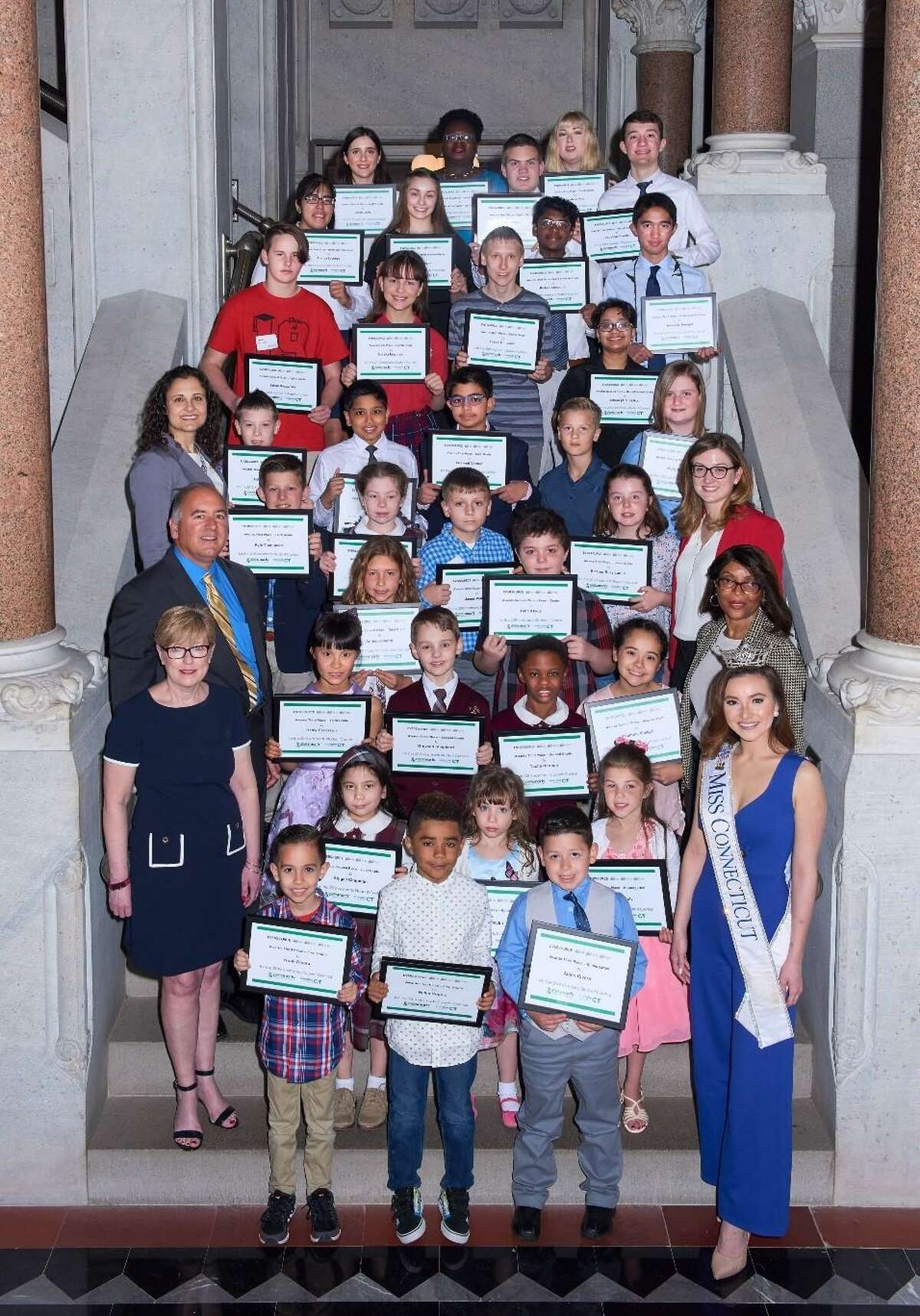 Torrington students were among the children honored last week as finalists at the 14th eesmarts™ Student Contest ceremony in Hartford. The contest is annually presented by Energize Connecticut in partnership with Eversource and United Illuminating, Southern Connecticut Gas and Connecticut Natural Gas.