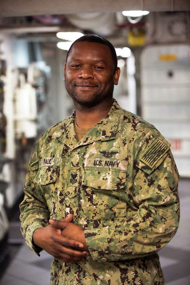 Petty Officer 1st Class Lonnie Stafford Paul Jr., a native of Houston, was inspired to join the Navy by his mom, who served in the Army. Photo: Photo By Senior Chief Gary Ward