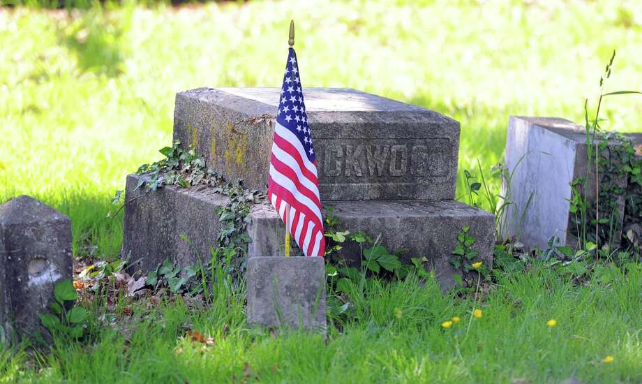 Springdale Post No. 9617, Veterans of Foreign Wars, will again this year spearhead the effort to plant flags on veteran's graves on Saturday in advance of Memorial Day commemorations. Photo: Matthew Brown / Hearst Connecticut Media / Stamford Advocate