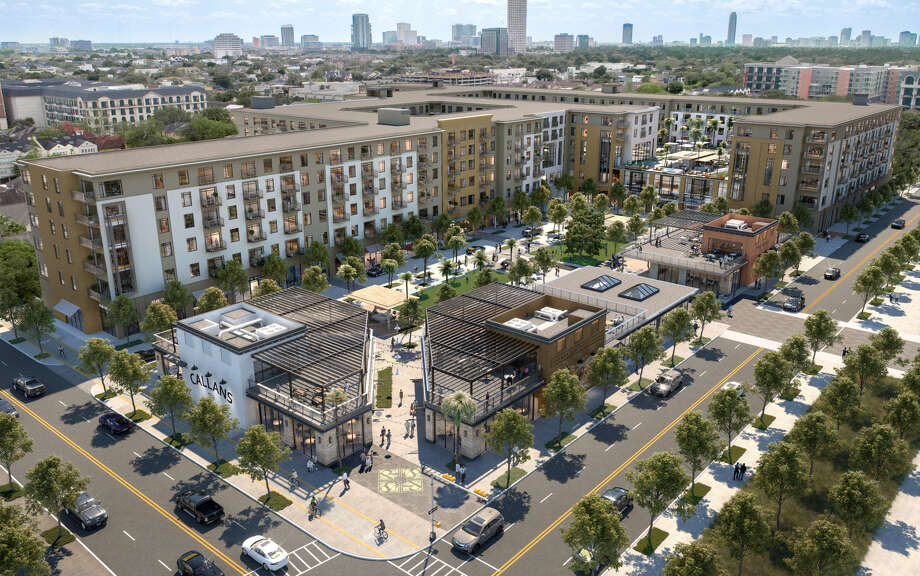 A new phase of Regent Square will include a 600-unit apartment complex and 50,000 square feet of retail space on eight acres at West Dallas and Dunlavy streets. Photo: Courtesy Of GID