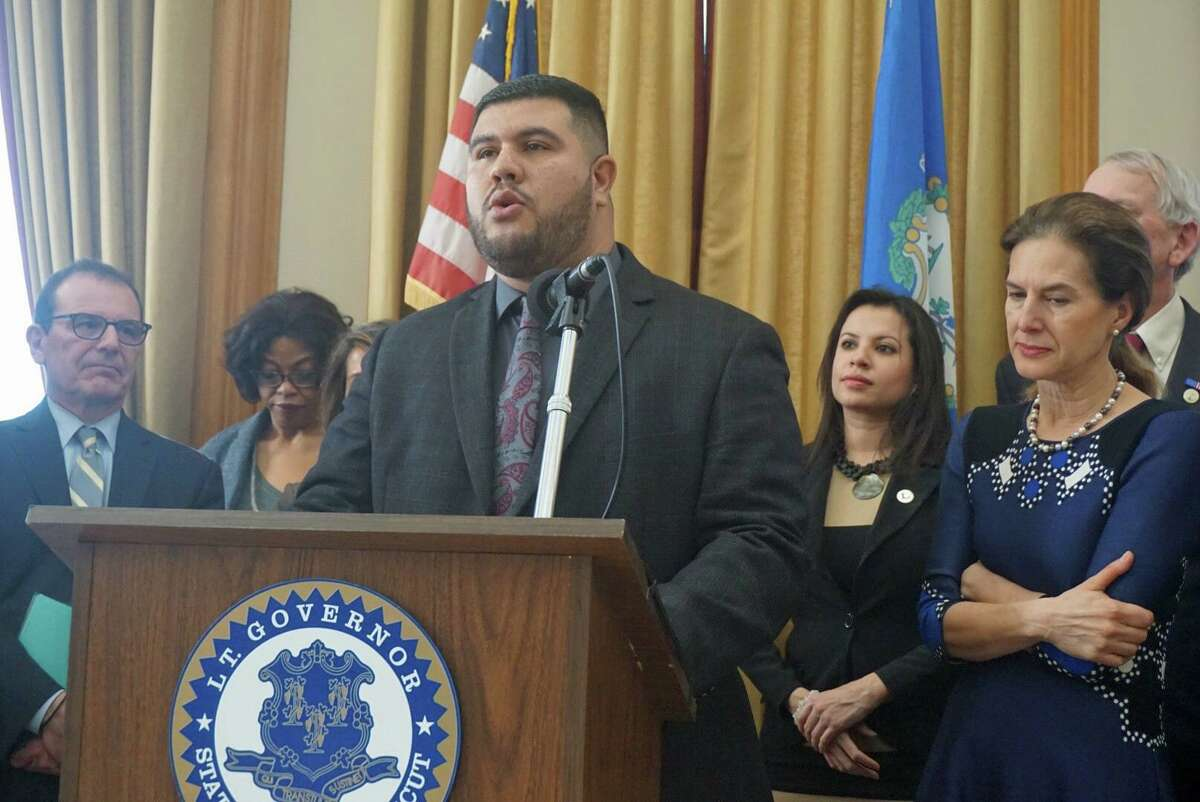 State Rep. Christopher Rosario, D-Bridgeport is shown in a photo from Jan. 4.