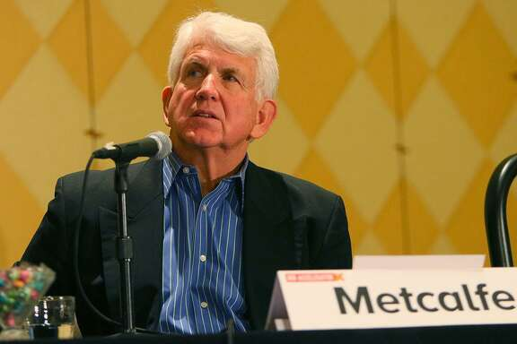 AUSTIN, TX - MARCH 15: Electrical Engineer Professor Robert Metcalfe speaks at the Accelerator Presentation during the 2015 SXSW Music, Film + Interactive Festival at Hilton Austin on March 15, 2015 in Austin, Texas. (Photo by James Goulden Photography/Getty Images for SXSW)