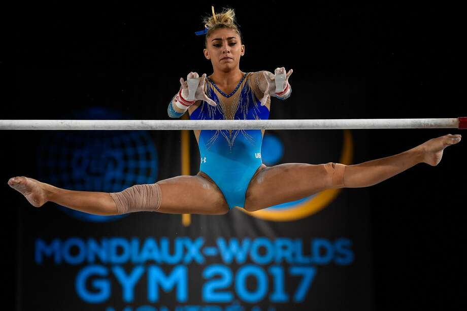 MONTREAL, QC - OCTOBER 07:  Ashton Locklear of The United States of America competes on the uneven bars during the individual apparatus finals of the Artistic Gymnastics World Championships on October 7, 2017 at Olympic Stadium in Montreal, Canada.  (Photo by Minas Panagiotakis/Getty Images) Photo: Minas Panagiotakis/Getty Images