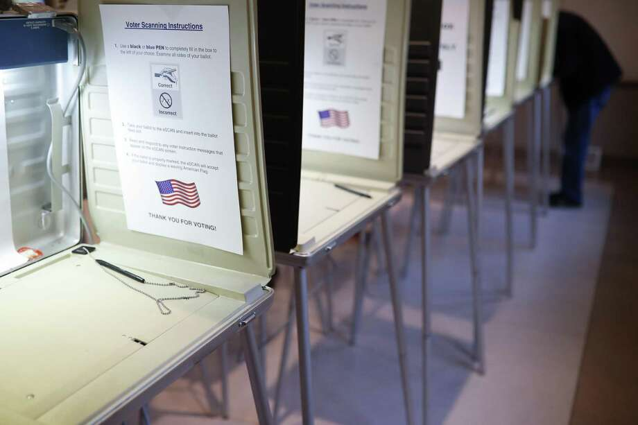 A bill in the Texas Senate would criminalize simple mistakes when someone registers to vote and chill voter participation. Photo: Associated Press File Photo / Copyright 2019 The Associated Press. All rights reserved.