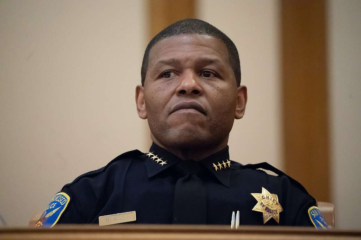 San Francisco Police Chief Bill Scott at the Police Commission meeting on Wednesday, May 15, 2019 in San Francisco, CA.