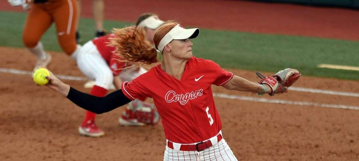 UH pitcher Savannah Heebner earned All-America honors.