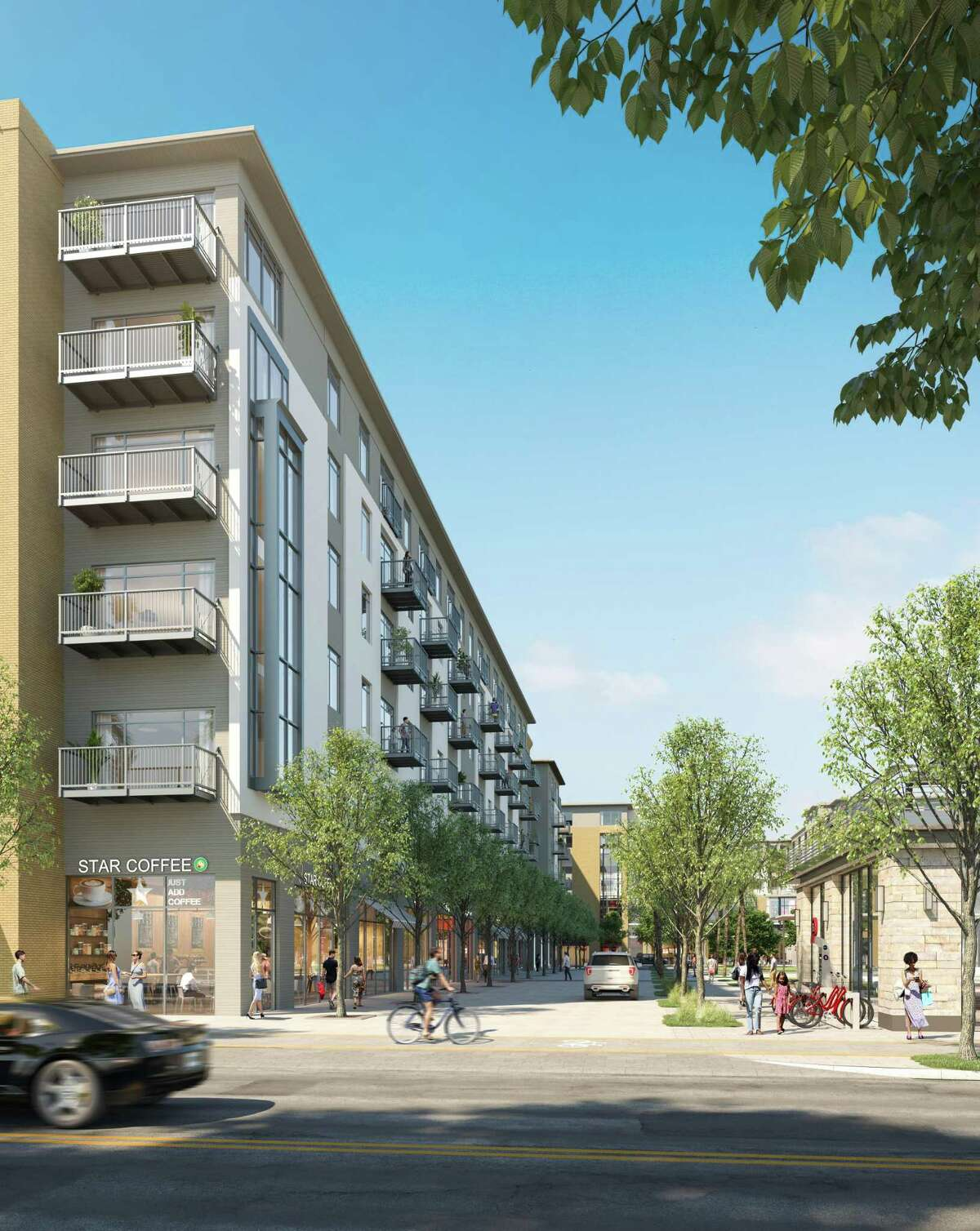 The next phase of Regent Square will include a 600-unit apartment complex and 50,000 square feet of retail space on eight acres at West Dallas and Dunlavy streets.