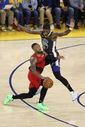 Damian Lillard S Neon Green Shoes Cause A Stir On Twitter During Game 2 Sfgate