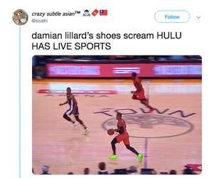 Damian Lillard's neon green shoes cause