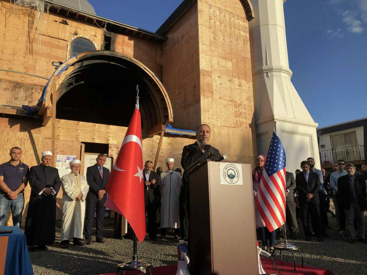 Residents gathered in solidarity Thursday as a vigil was following the recent fire at the Diyanet Mosque of New Haven, which officials said was intentionally set.