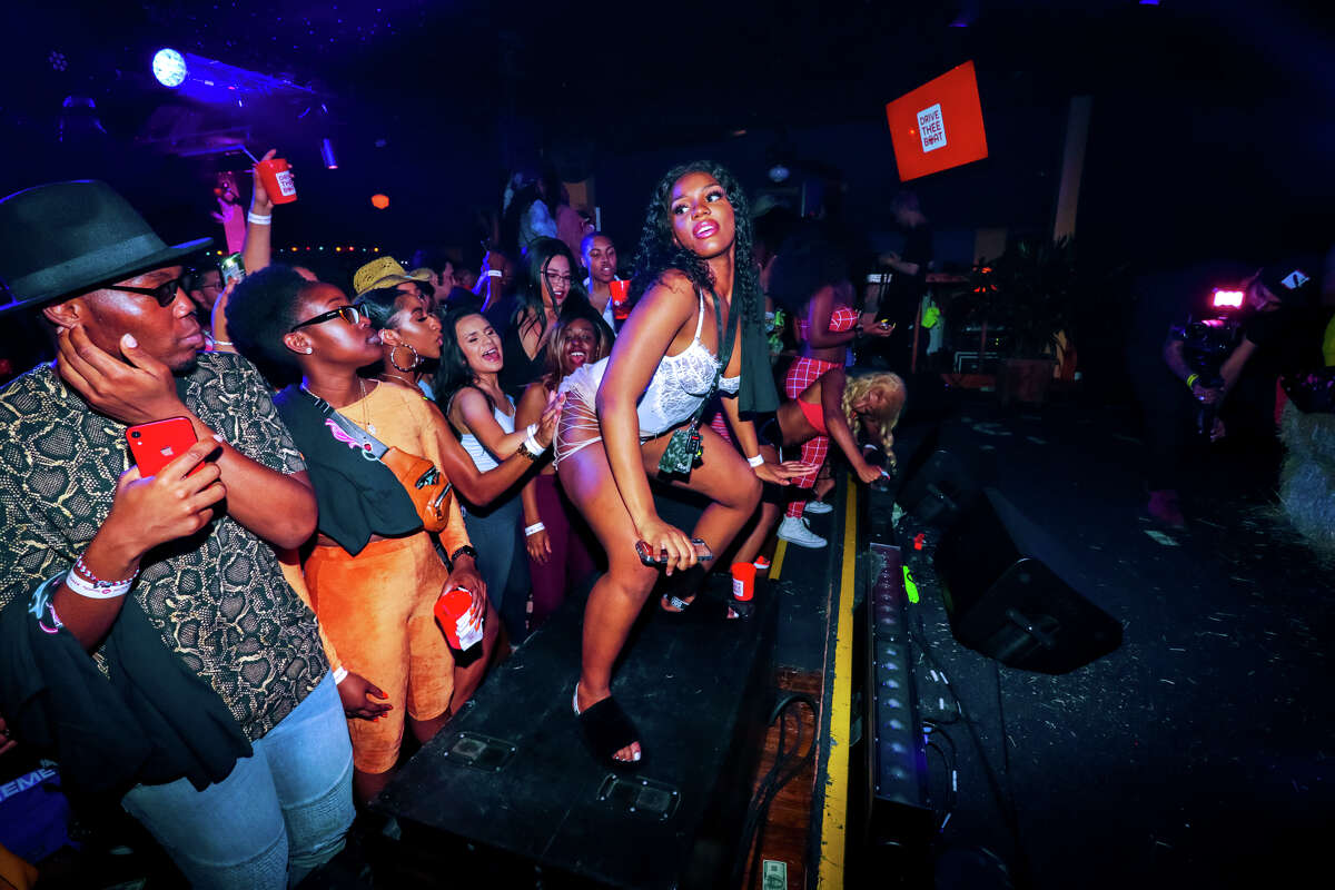 Spotify hosted an album release party for Houston's own Megan Thee Stallion at Neon Boots Dancehall & Saloon on May 16th, 2019. The rapper arrived to the venue riding a white horse and wearing a white cowboy hat and chaps. The name of her new album is