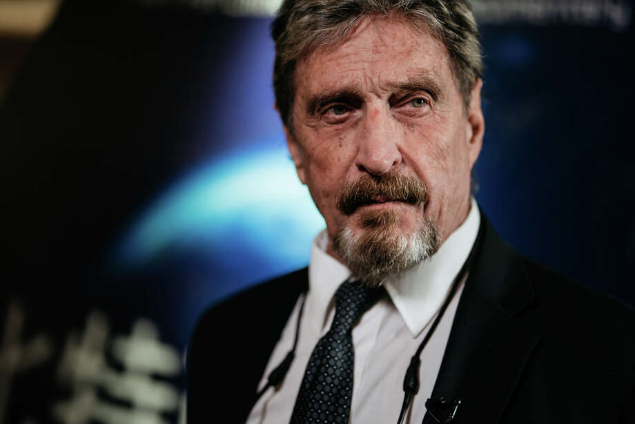 John McAfee Photo: Bloomberg Photo By Anthony Kwan / Bloomberg