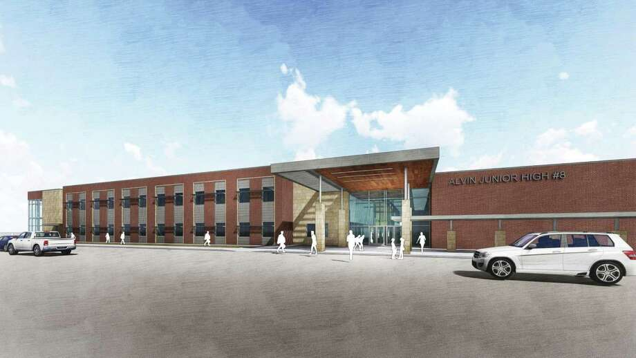 This rendering shows Meridiana's new on-site junior high school scheduled to open in fall 2021.