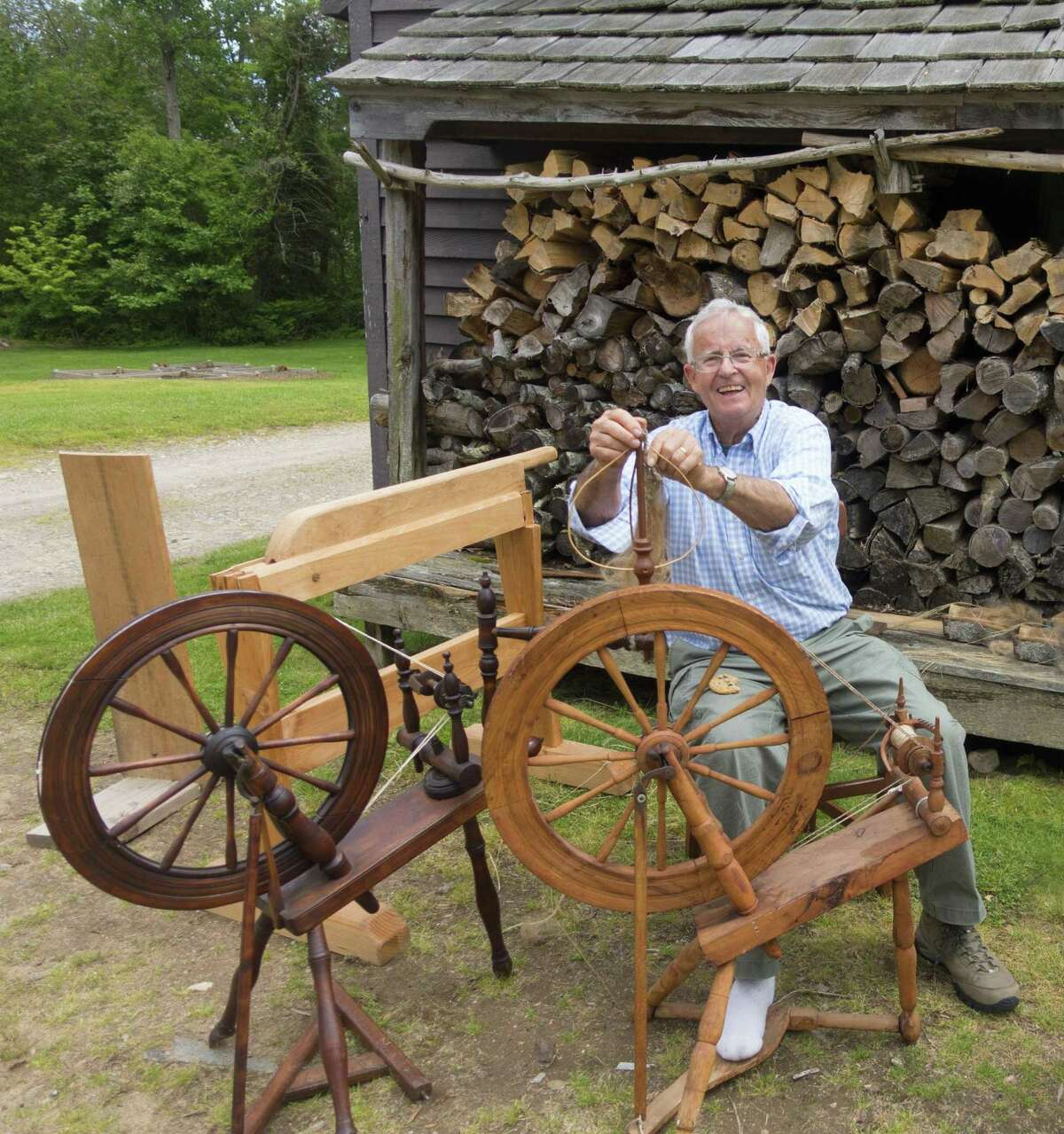 Warner Lord, former Madison Town Historian, returns to Connecticut to process flax in a public program at Bushnell Farm in Old Saybrook on Saturday, May 18. Follow the Fibers to Bushnell Farm is free with on-site parking at this 17th century site with seven buildings. The event is rain or shine.