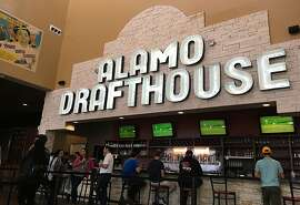 The bar at Alamo where you can order drinks, food and queso even if you're not seeing a movie at Drafthouse Park North in San Antonio.