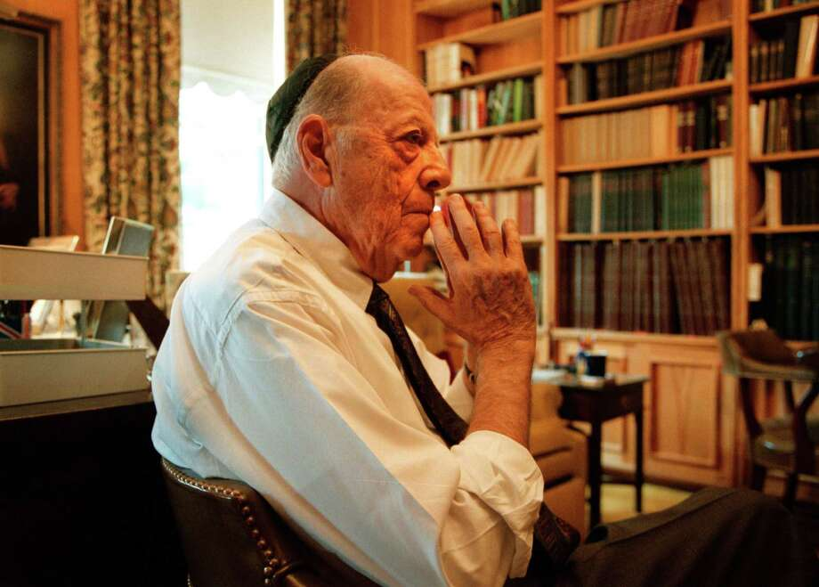 Herman Wouk in his home office in the Georgetown neighborhood of Washington, D.C., in 2000. Photo: Washington Post Photo By James A. Parcell / The Washington Post