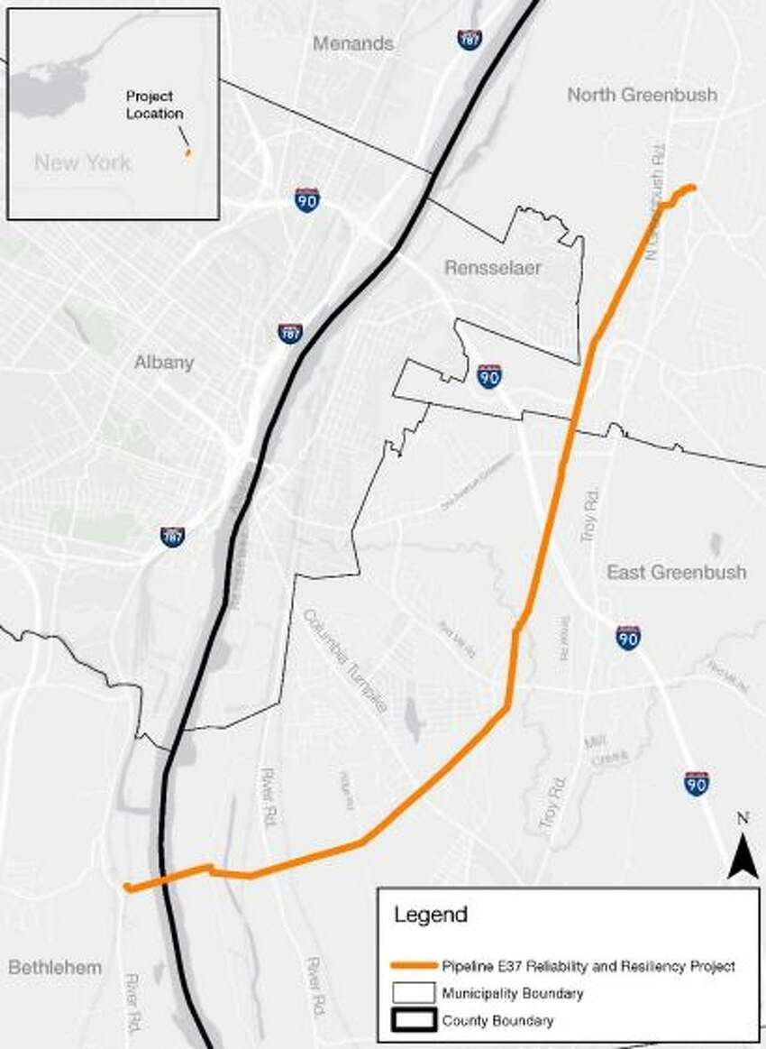 National Grid is proposing a seven mile extension of its Albany Loop pipeline from Bethlehem to North Greenbush, under the Hudson River.