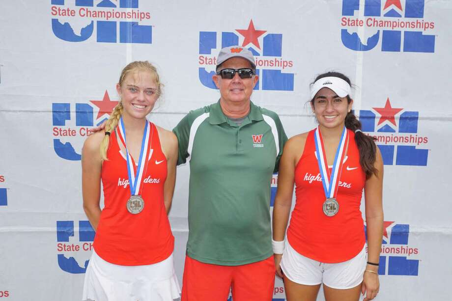 The Woodlands girls doubles team of Avery Hilbig and Melissa Vizcardo  took second place at the state tournament on Friday. Photo: Ted Bell