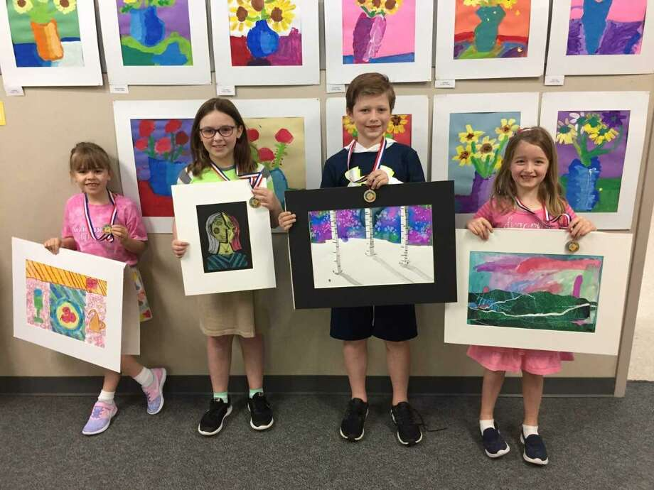 At the Texas Elementary Art Meet, a visual arts event sponsored by the Texas Art Education Association, 11 lower school students received awards, and 10 of those students received the highest rating during judging. Photo: Submitted Photo / Submitted Photo