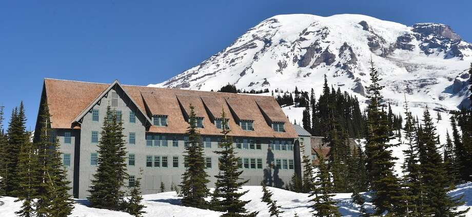 A view of the Paradise Inn Annex with Mount Rainier in the near background. Photo: National Park Service
