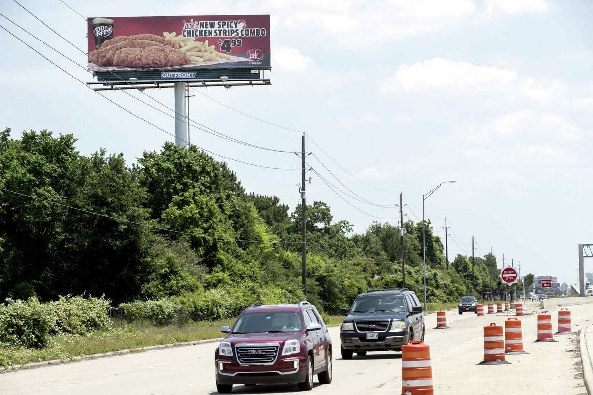 A billboard stands along U.S. 290 on Wednesday, May 15, 2019, in Houston. Since March 2017, five billboards have been erected at a height greater than the approved 42.5 feet, including one along U.S. 290 north of Cypress. Lawmakers are tweaking the rules for billboards, with an eye to trying to appease the sign industry and beautification advocates.
