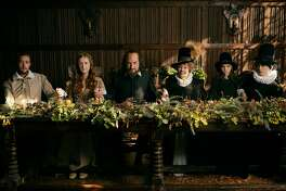 "From left: Jack Colgrave Hirst, Kathryn Wilder, Kenneth Branagh, Judi Dench, Clara Duczmal and Lydia Wilson in ""All Is True."" MUST CREDIT: Robert Youngson, Sony Pictures Classics"
