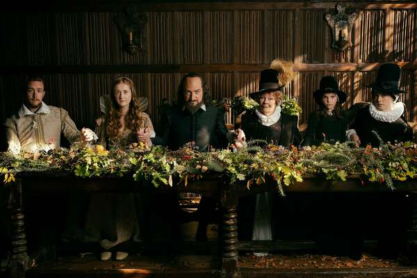 """From left: Jack Colgrave Hirst, Kathryn Wilder, Kenneth Branagh, Judi Dench, Clara Duczmal and Lydia Wilson in """"All Is True."""" MUST CREDIT: Robert Youngson, Sony Pictures Classics"""