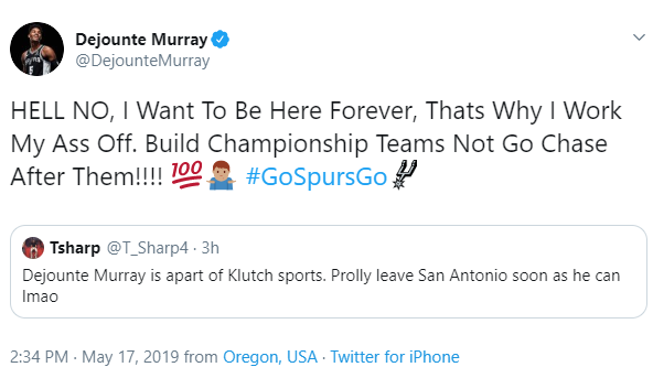 Spurs' Dejounte Murray says he wants to 'be here forever' — fans react with loving memes