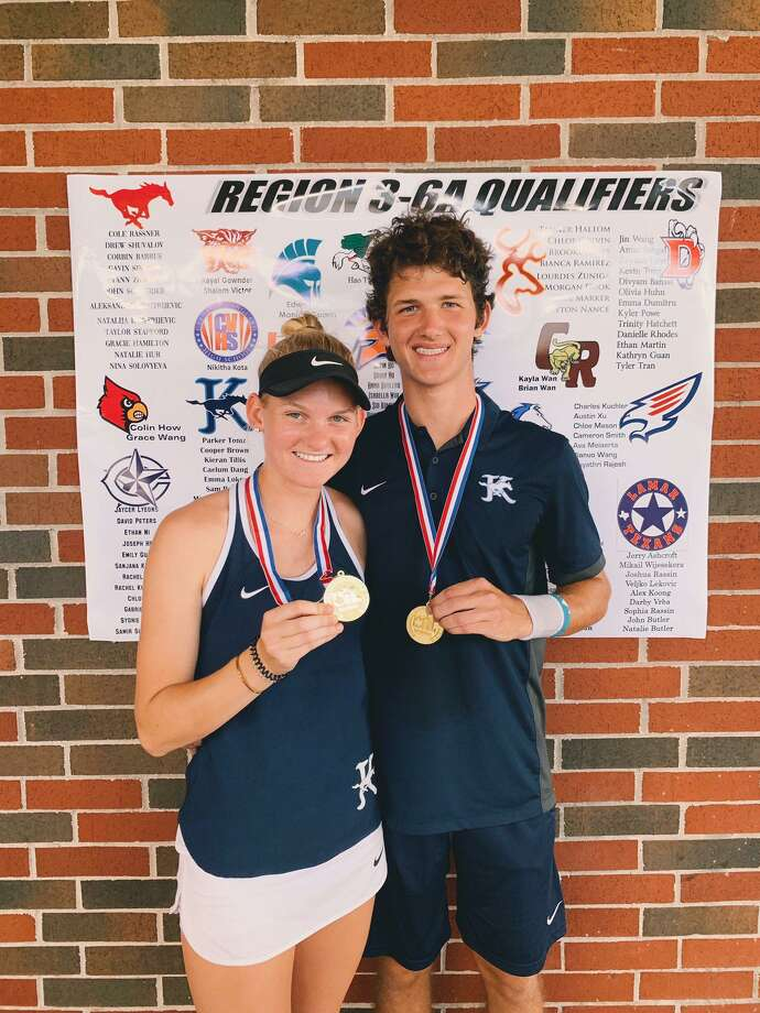 Kingwood's mixed doubles team of Maddie Bezner and Dalton competed at the Class 6A tennis state tournament. Photo: Kingwood Tennis Contributed Photo