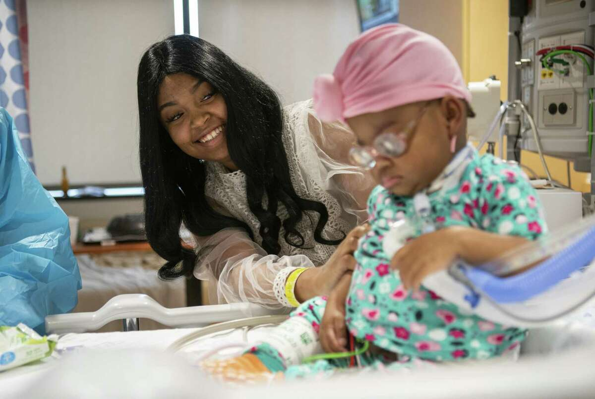 Rebecca Jones has received support from the nonprofit Children's Transplant Initiative while her 1-year-old daughter, Brooklyn, is undergoing care at Texas Children's Hospital. Brooklyn received a liver transplant in February.