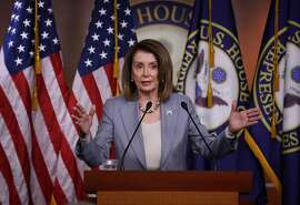 """WASHINGTON, DC - MAY 09: U.S. Speaker of the House Nancy Pelosi (D-CA) answers questions during a press conference at the U.S. Capitol on May 09, 2019 in Washington, DC. During the press conference Pelosi said the U.S. is in a """"constitutional crisis"""" and warned that House Democrats may find additional members of the Trump administration in contempt of congress for not complying with congressional subpoenas.  (Photo by Win McNamee/Getty Images)"""