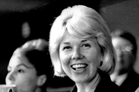 This 1962 photo provided by Michael Raphael shows actress and singer Doris Day at a Los Angeles Dodgers baseball game in Los Angeles. Day died at her home in the Carmel Valley in Northern California. She was 97. A reader remembers her fondly.