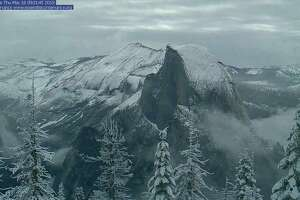 Yosemite National Park was coated in fresh snow on May 16, 2019, after a moisture-rich atmospheric river swept the Serra Nevada.