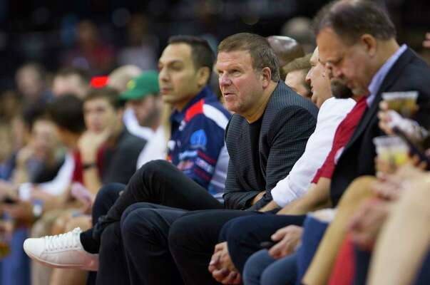 Rockets owner Tilman Fertitta watches from the sidelines during the first half of a game between the Houston Rockets and the Indiana Pacers at Toyota Center, Thursday, Oct. 4, 2018 in Houston.
