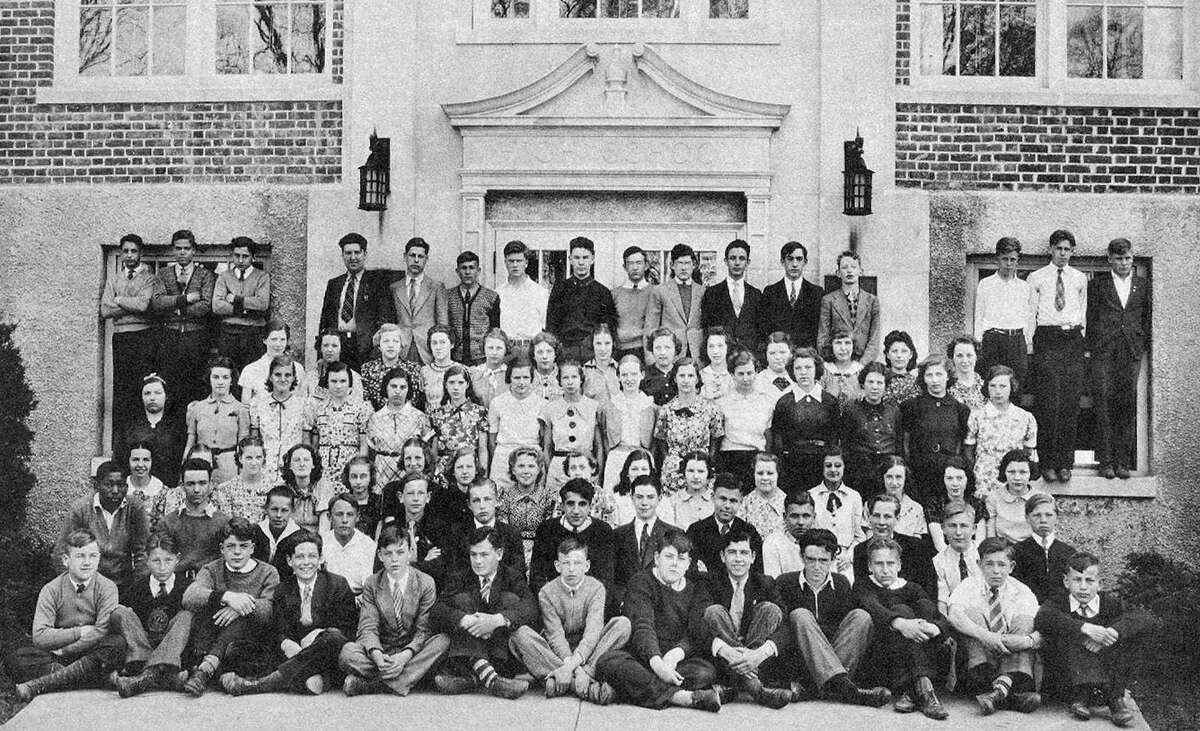NMHS freshmen Courtesy of New Milford High School. These 86 freshmen took a break from their classes at NMHS to pose for a photo in September 1937. The school was in its first decade occupying the state of the art edifice on East Street now known as the Lillis Administration Building. That building served the town as its high school for more than 30 years until a new NMHS was built in Sunny Valley.