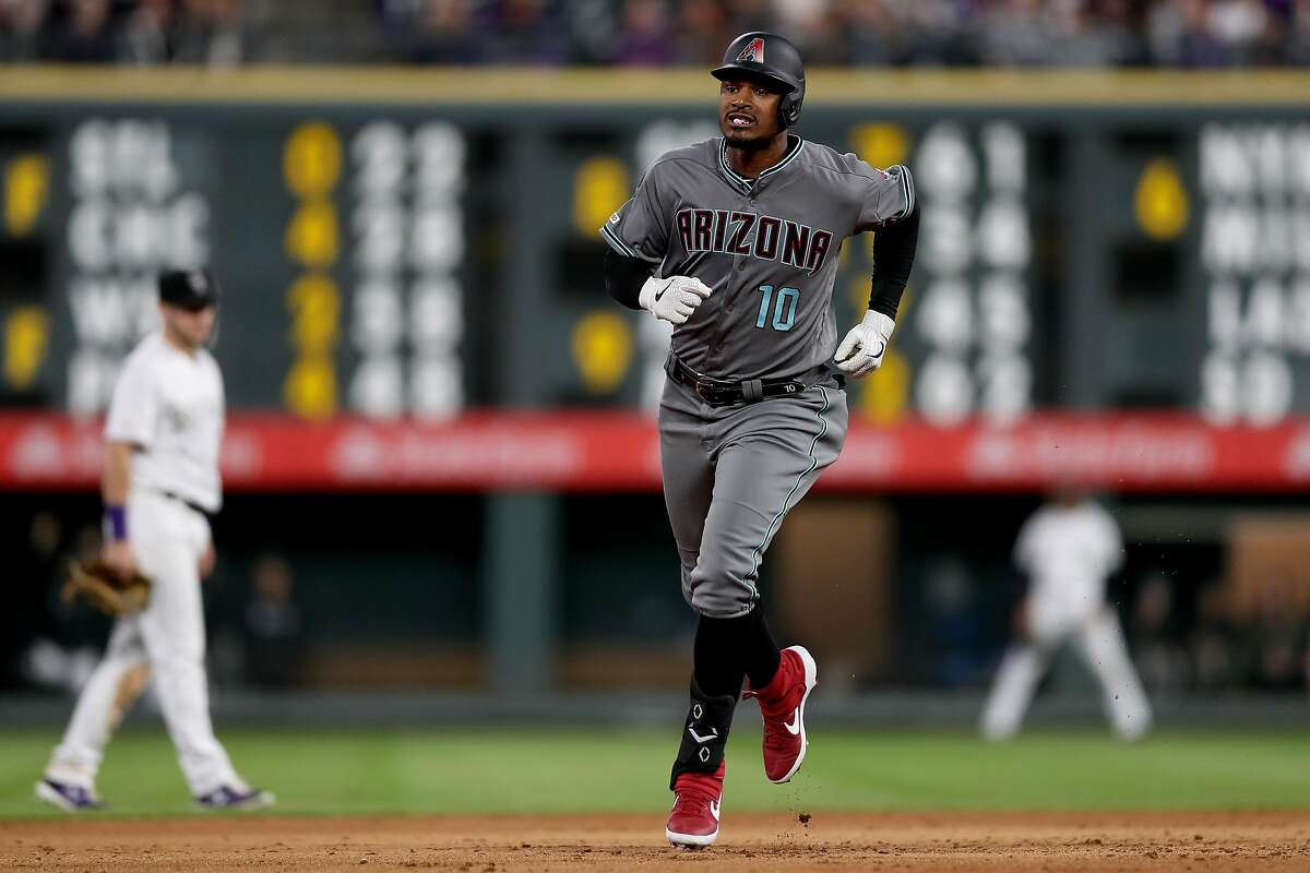 DENVER, COLORADO - MAY 03: Adam Jones #10 of the Arizona Diamondbacks ccircles the bases after hitting a solo home run in the fifth inning against the Colorado Rockies at Coors Field on May 03, 2019 in Denver, Colorado. (Photo by Matthew Stockman/Getty Images)
