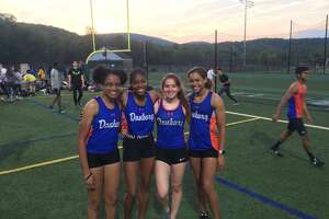 Danbury's quartet of Natalee Seipio, Meilee Kry, Jessica Glowacki and Alanna Smith qualified for nationals with a 1:43.56 time in the 4x200 meter relay Friday at the Danbury Dream Invitational.