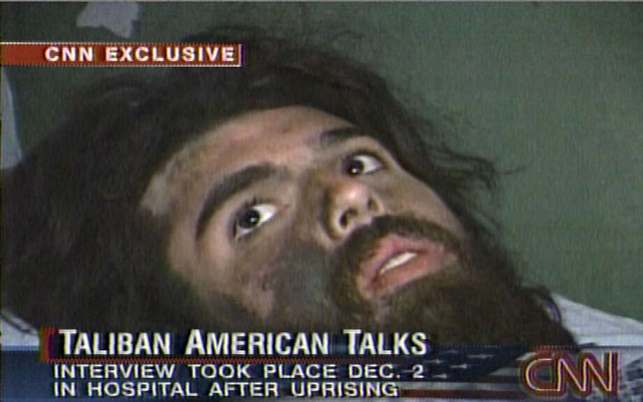 In this image from television broadcast Wednesday, Dec. 19, 2001, American Taliban fighter John Walker Lindh is seen during an interview soon after his capture. According to CNN, the interview took place Dec. 2, 2001. (AP Photos/CNN) Photo: AP