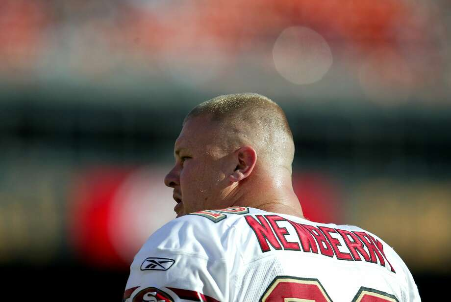 Former San Francisco 49ers football center Jeremy Newberry, shown in 2003, lost 2,000 newly planted cherry trees at his Newberry Cherry Farm. Photo: Lance Iversen / The Chronicle 2003