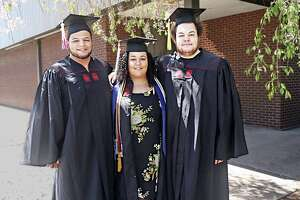 The 22-year-old Bonaparte triplets of Middletown, from left, Derek, Rachel and Kevin, will be graduating from the University of Hartford's College of Arts and Sciences Sunday. In a coincidence, May 19 is also their mother's birthday, further delighting the family.